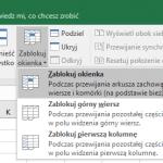 Co robić, gdy program Excel nie pozwala na wstawianie kolumn?